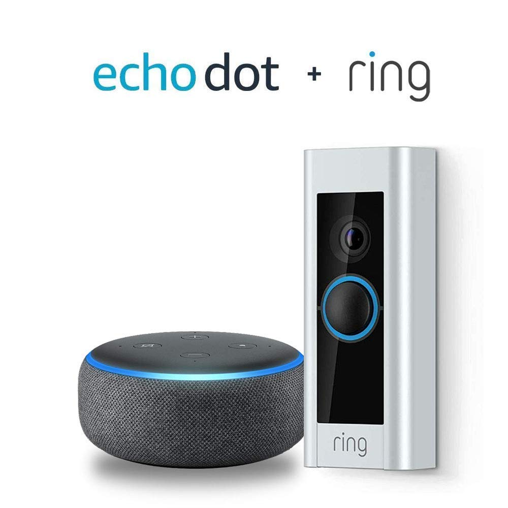 Ring Video Doorbell Pro Alarme De S/écurit/é avec Smart Tuya App Touch Keypad  Alexa Google Home Voice Control IP Camera Monitoring d/étecteur de fum/ée