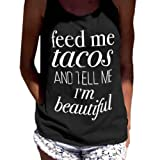Amazon Price History for:Women Tank Tops, kaifongfu Letter Print Sleeveless Tank Crop Tops Vest