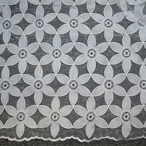 Organza Flower Eyelet Fabric 50