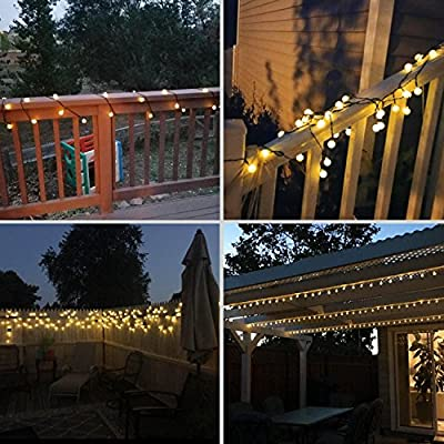 Solar Outdoor String Lights, Kohree 50 LED Crystal Ball String Fairy Lights Christmas Lights for Garden, Patio, Yard, Home, Christmas Tree, Parties