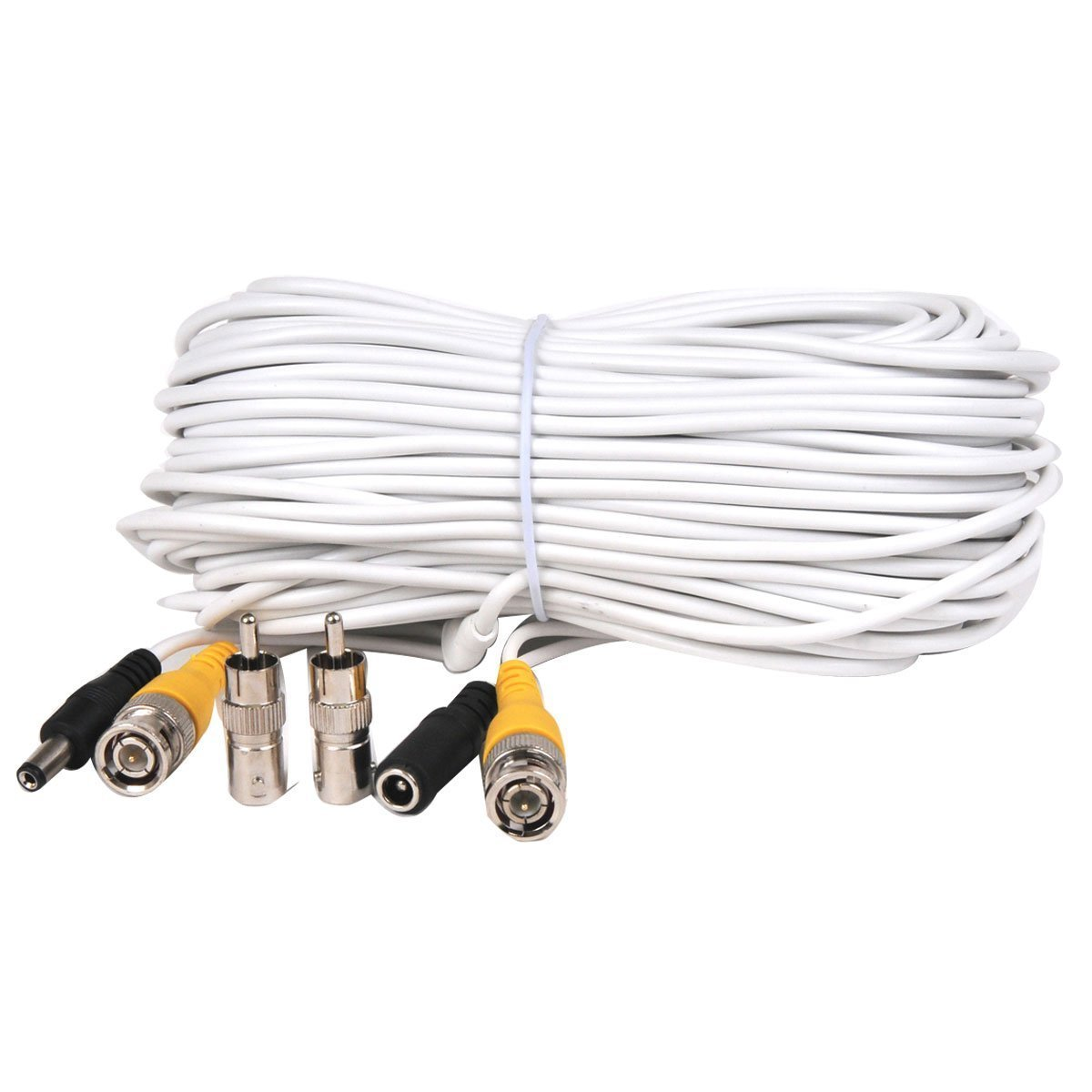 Amazon.com : VideoSecu 100ft Feet Video Power Cable BNC RCA Wire ...