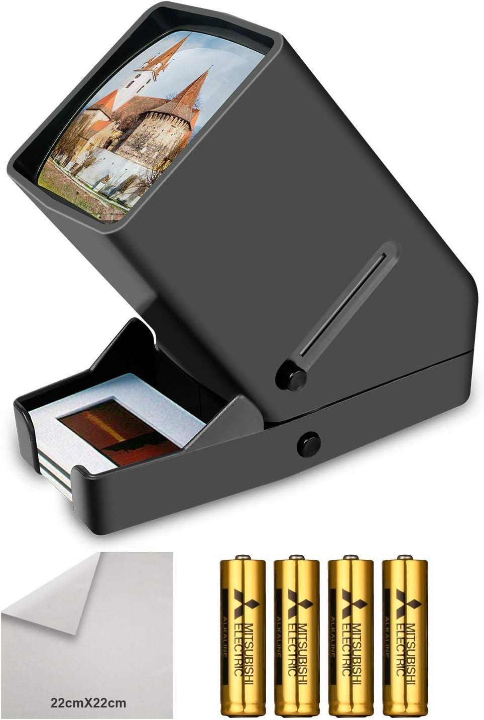 Visor de Diapositivas y Negativos de 35 mm, LED Daylight Desktop Film Viewer con Aumento de 3X