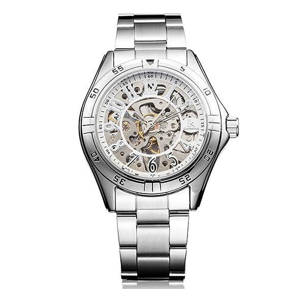 Dos caras de la plantilla manual reloj mecánico/Relojes de los hombres/Reloj casual de los hombres-D: Amazon.es: Relojes