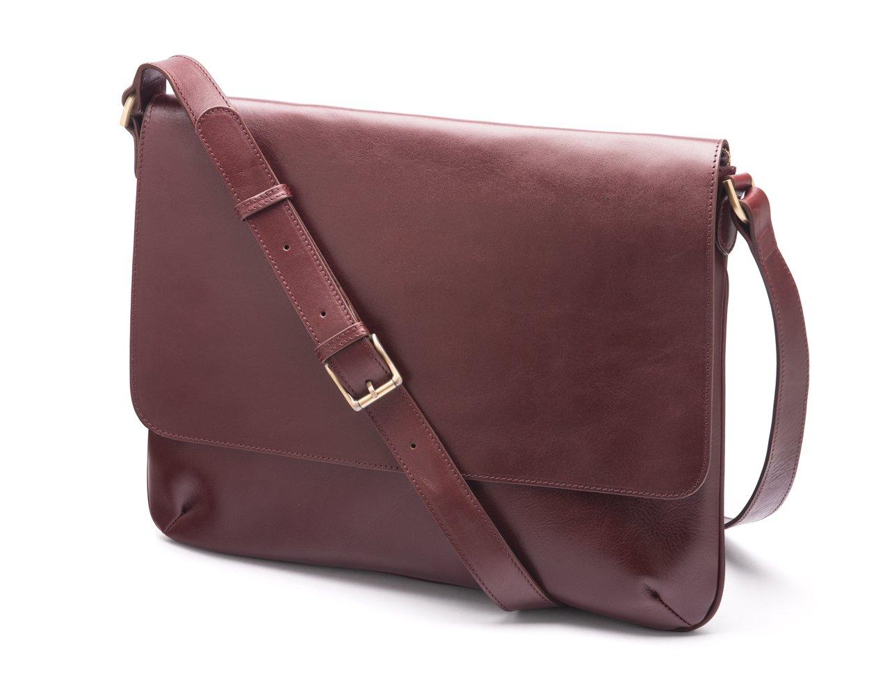SAGEBROWN Dark Tan Slim Messenger Bag