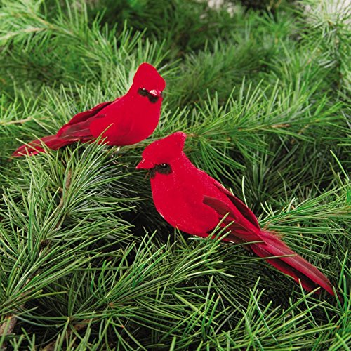 C&F Cardinal Clip-on 5-Inch Christmas Ornament, Red, Pack of 2 -