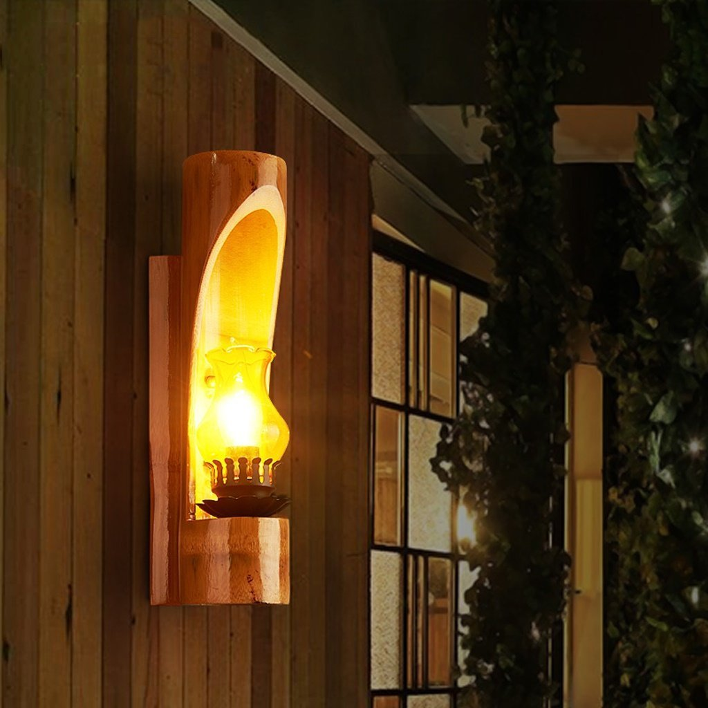MOMO Bedside Wall Lamp American Bedroom Iron Single Head Lamp Retro Hotel Wall Lamp Room Corridor Ventilation Aisle Lamp