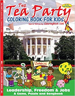 Tea Party Coloring Book (8.5x11): ColoringBook.com, Really Big ...