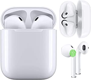 Wireless Earbuds Bluetooth 5.0 Headphones IPX5 Waterproof Earbuds with 24Hrs Mini Charging Case, 3D Stereo Headsets in-Ear Built in Mic Headset, for iPhone/Samsung/Android/Apple/Airpods