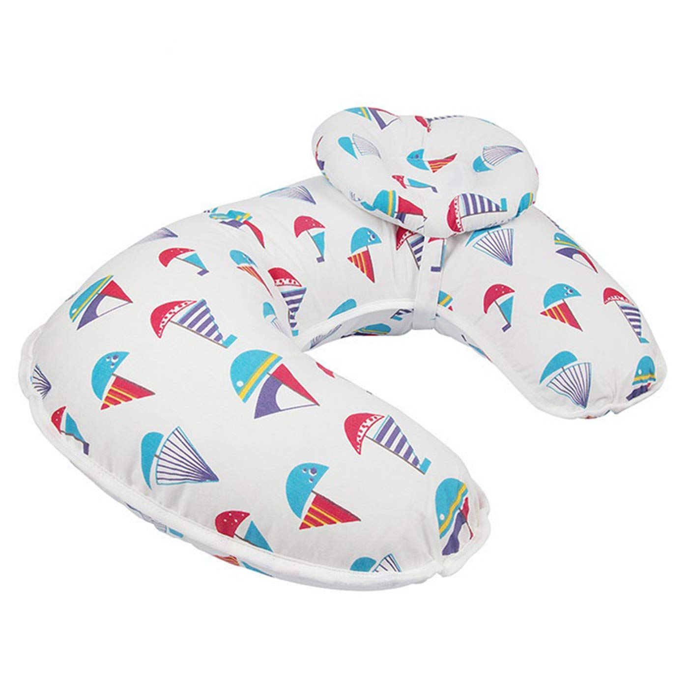 Borje New Design 45/°Angle Newborn Breastfeeding Adjustable Pillow for Babies Nursing Baby Lounger Red Sailboat
