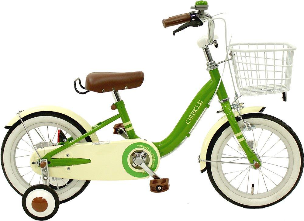 CHIBICLE チビクル 子供用自転車 14インチ チェーンカバー カゴ 泥除け 補助輪付き グリーン MKB14-34-GR   B00QI9IZAY