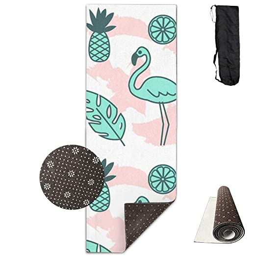 FGRYGF Yoga Mat Lion Hot Yoga Mat with Carry Strap and Carry ...
