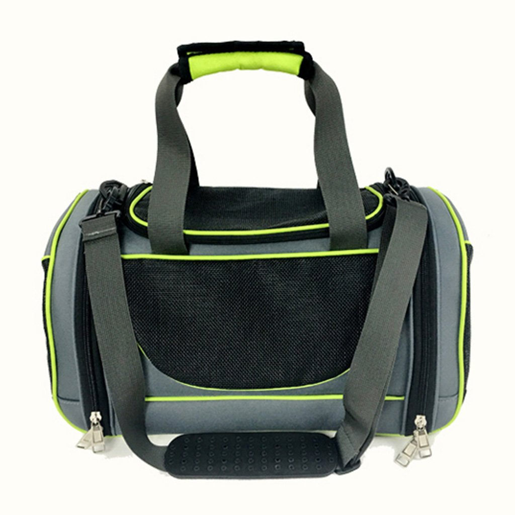 Green 462922cm Green 462922cm LWY DHHFG® Pet bag, spring and summer new convenient breathable folding pet bag (color   Green, Size   46  29  22cm)