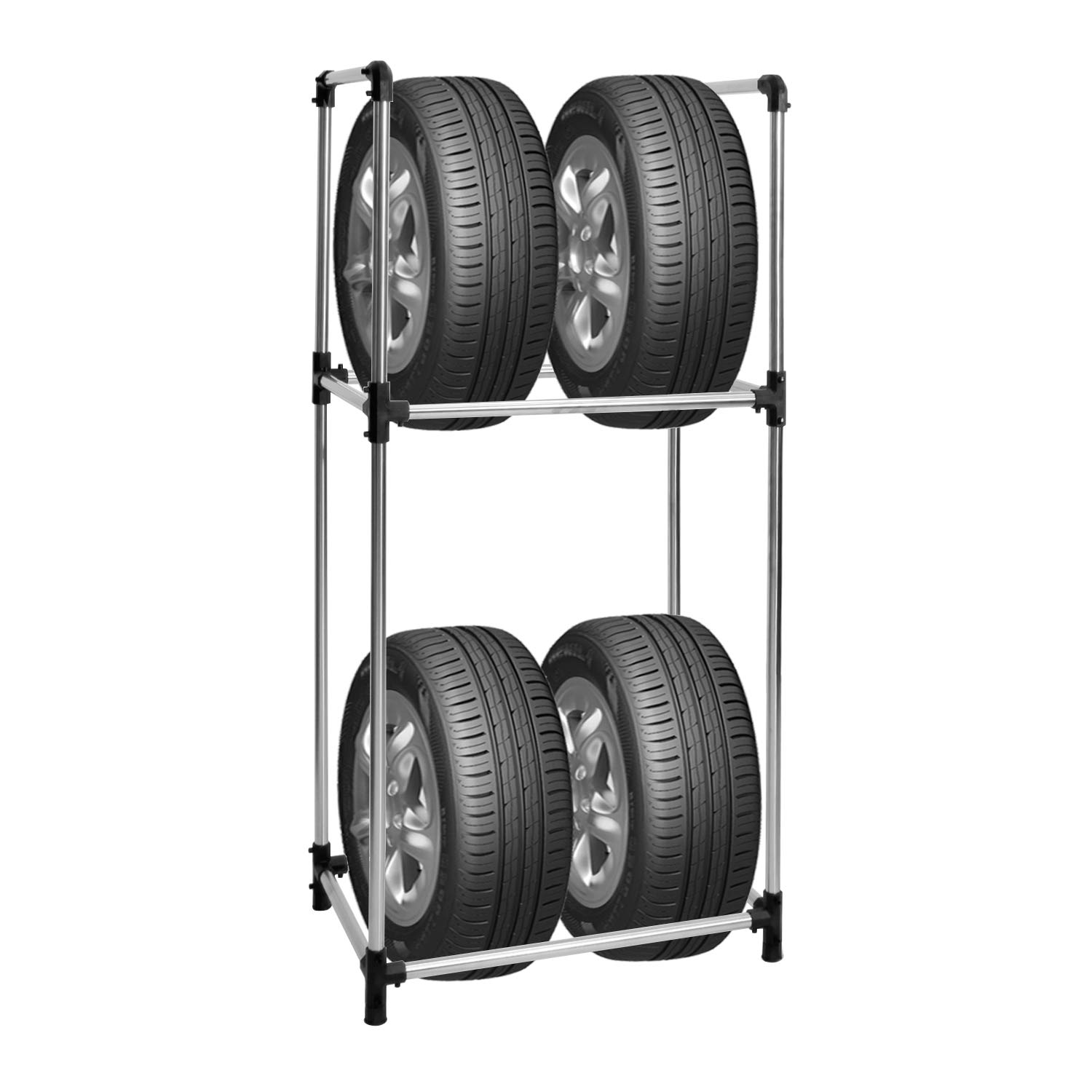 soges 2 Tiers Tire Rack Standing Tire Holder for