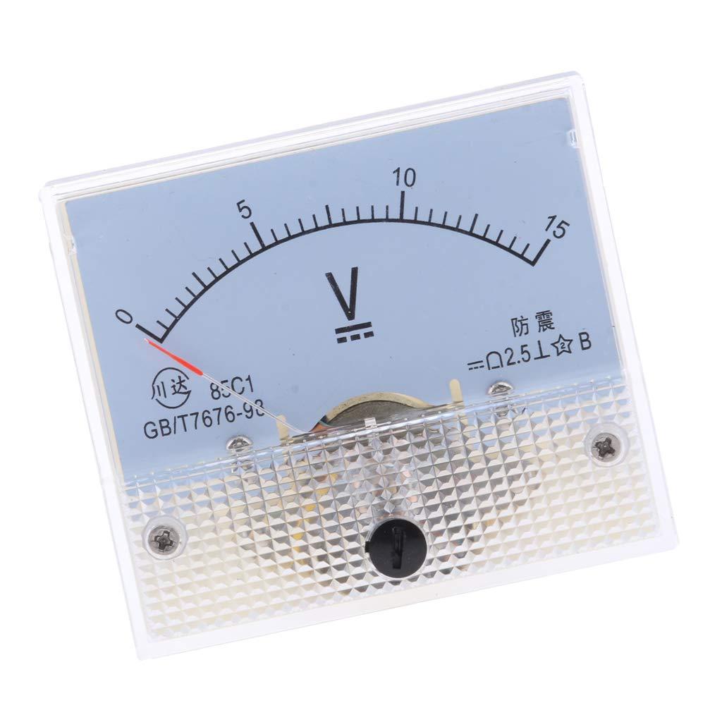 Sharplace Amperem/ètre Analogique Voltm/ètre Jauge Panneau Compteur Testeur Amp Metres Manom/ètre 0-250 V