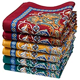 """Samarkand"" fine oriental handkerchiefs – 14″ square – Bag of 6 units"