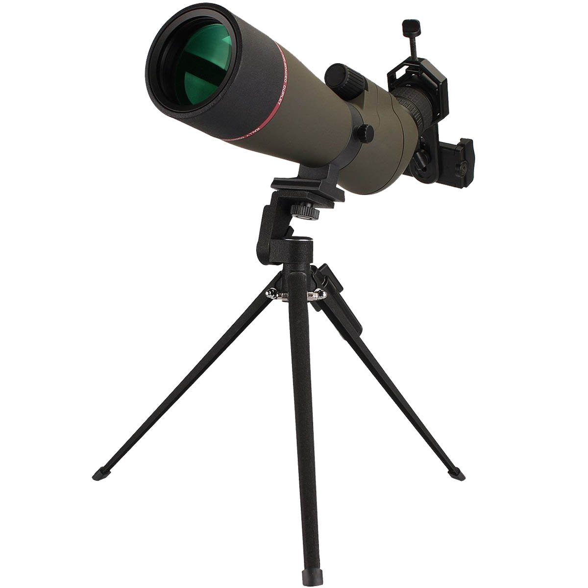 SVBONY 20-60x80mm Outdoor Shooting Hunting Spotting Scopes Bak4 Bird Watching Scope Telescope Magnification FMC Green Film Objective Lens with Tripod by SVBONY