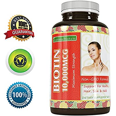 Pure Biotin Supplement – Fight Hair Loss + Strengthen Strands + Promote Growth – Improves Digestion – Good for Skin and Nails – For Men And Women – Natural Vitamins to Stop Thinning Hair