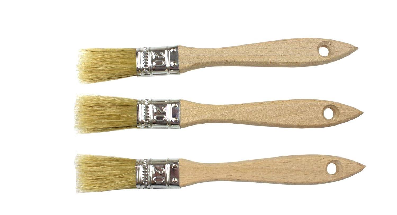 Lot de 3 pinceaux en poils naturels de 20 mm pol-brush