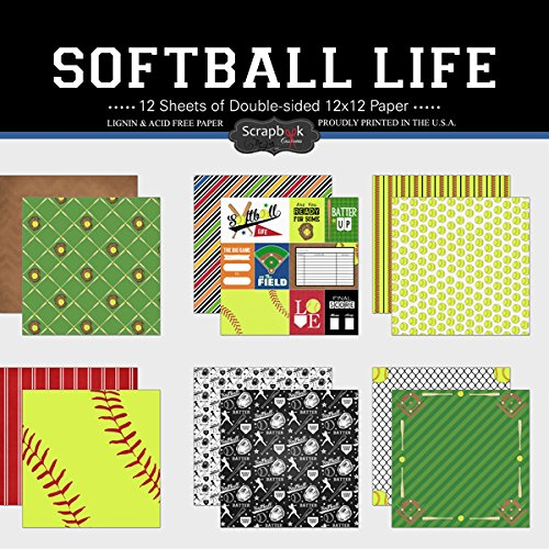 Stripes Invitation Kit (Scrapbook Customs Themed Paper Scrapbook Kit, Softball Life)