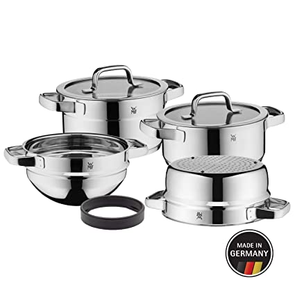 WMF Compact Cuisine - Batería de cocina (4 piezas, olla ...