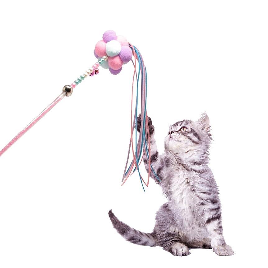 枕潜在的なビバCATOM 猫のおもちゃ 猫じゃらし 羽のリフィル交換用パック 伸縮できる じゃれ猫 釣り竿 (6羽)
