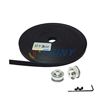 2 x MXL Type Timing Pulley 20 Teeth 5mm Bore for Stepper Motor 2m MXL Belt