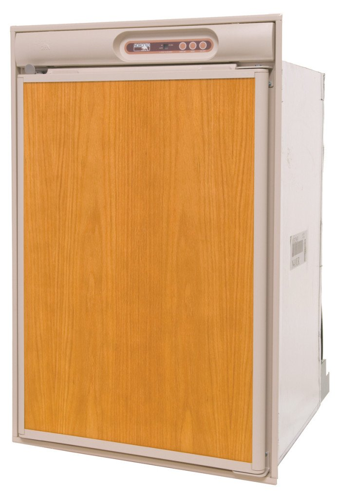 Norcold 4 N410.3UR RV Refrigerator-4.5 cu. ft. -AC/DC/LP-Left Hand Swing-Beige Trim