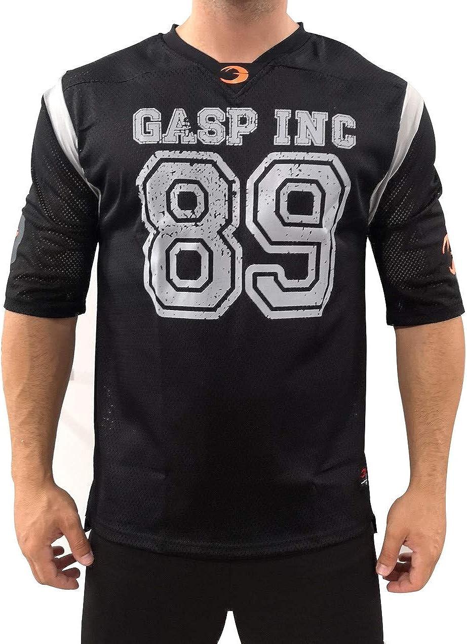 A. M. Sport Camisa Hombre Futbol Americano Fitness Deportiva. (89 Negra): Amazon.es: Ropa y accesorios