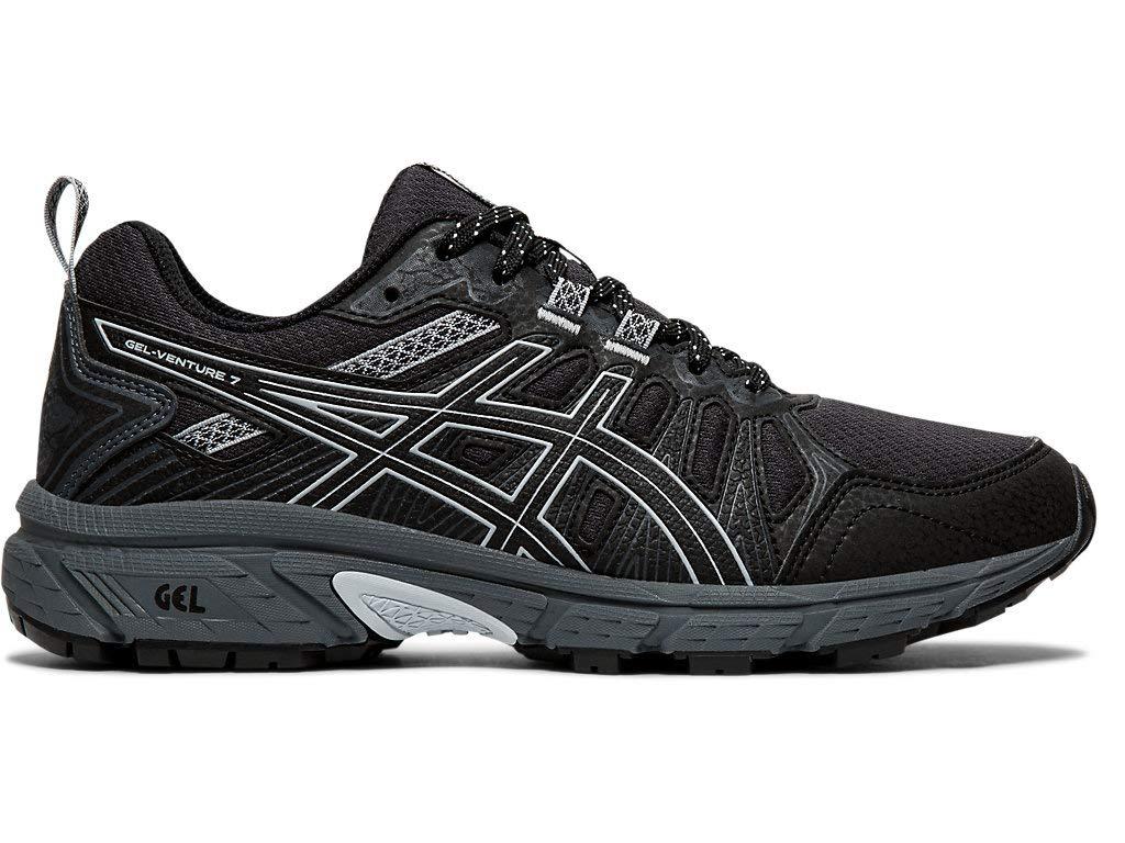 ASICS Women's Gel-Venture 7 Running Shoes, 9M, Black/Piedmont Grey by ASICS