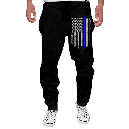 Amazoncom Crochet Usa Flag The Thin Blue Line Mens Active Basic