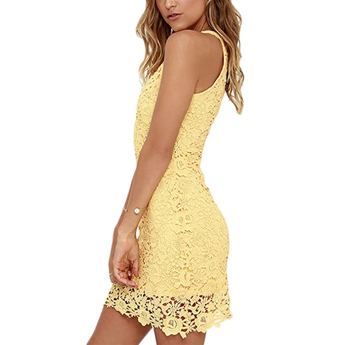 Vestidos de fiesta amarillos cortos