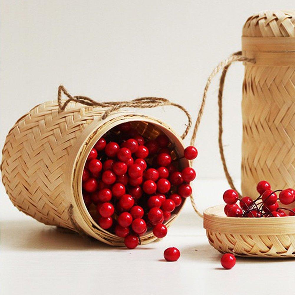 StageOnline Cesta Granja bamb/ú tejedur/ía bamb/ú Tubo Cesta Cesta de bamb/ú para Alimentos//Dulces