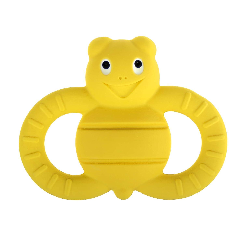 besonders weicher Greifling zum Ertasten MAM Friend Ellie the Bee Entwicklungsspielzeug ab 3+ Monaten gelb Baby Spielzeug aus Naturkautschuk
