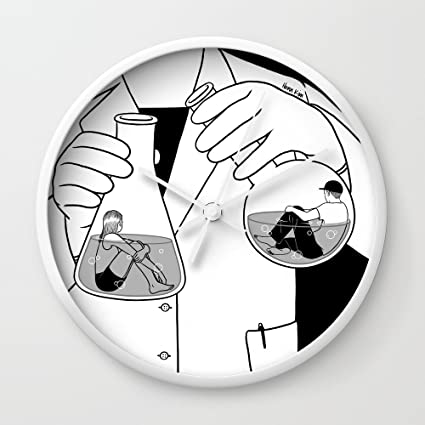 amazon society6 the chemistry between us wall clock white frame World Map Singapore society6 the chemistry between us wall clock white frame white hands