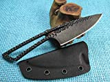 TwoSun Knives 6 3/8 Overall 5MM D2 Blade EDC Surviver Neck Skeleton Knife TS92