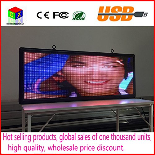 Outdoor full-color P5 LED display size 15 x 40 inches advertising video screen / image signs / message board by CXGuangDian