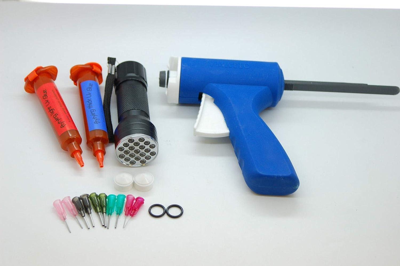 UV Harz 50 Gramm Flexibel UV Kleber 21 LED UV Taschenlampe für Fliegenbinden