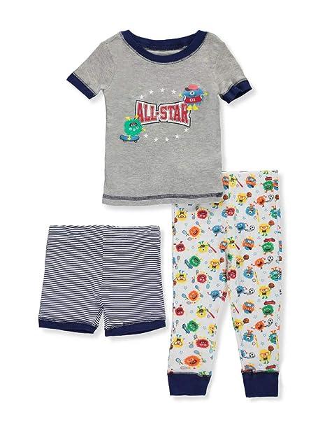Only Boys Conjunto de pijama de Pantalones cortos de 3 piezas para niños pequeños para niños