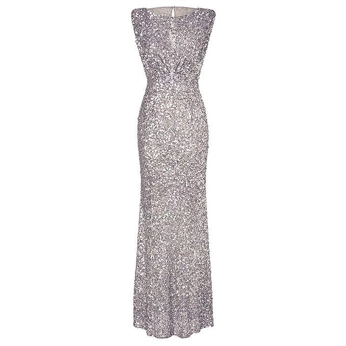 super popular bb797 9ba77 CLOOM Vestito da Donna Elegante Prom Formale Abito da Ballo ...