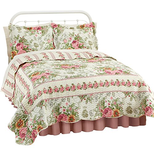 Bella Floral Stripe Reversible Lightweight
