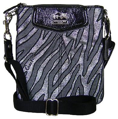 coach 44373 madison zebra swingpack black amazon co uk shoes bags rh amazon co uk