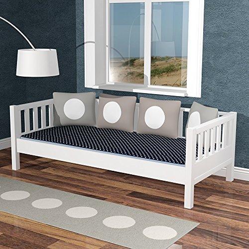 Tagesbett Sofabett THORSTAL, weiss, 90x200cm, Massivholz/MDF, umbaubar zum Basisbett