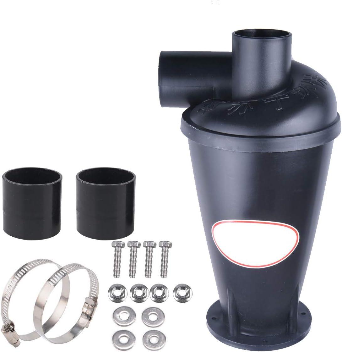 Vinteky Separador de Polvo plástico, Extractores de Polvo Negro/Blanco (Negro con base)