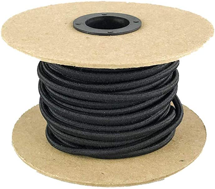Replacement 6mm Polyester Coated Rubber Elastic Shock Bungee Cord Rope Tie Down