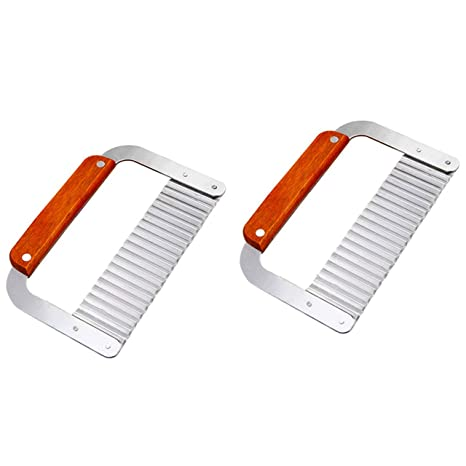 DD-life 2-PACK Stainless Steel Wavy Soap Cutter Soap Making Tools Hardwood  Handle Pro  Supply