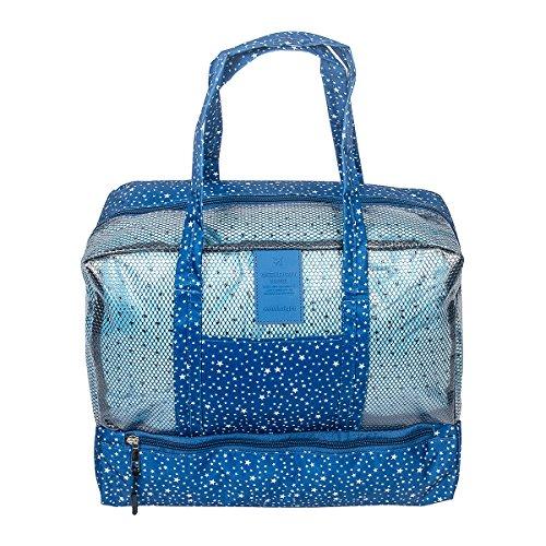 Hibiscus Drawstring Tote Bags - 1