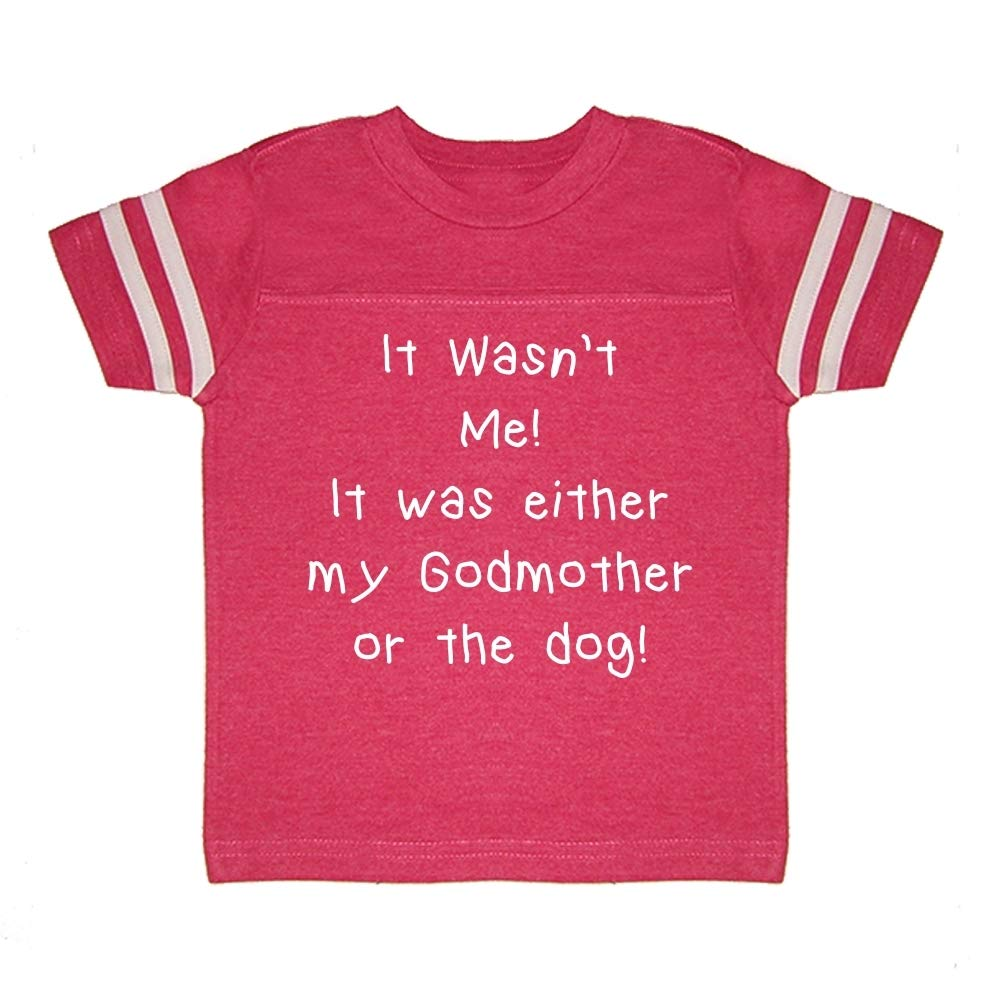 It was Either My Godmother Or The Dog Mashed Clothing It Wasnt Me Toddler//Kids Sporty T-Shirt