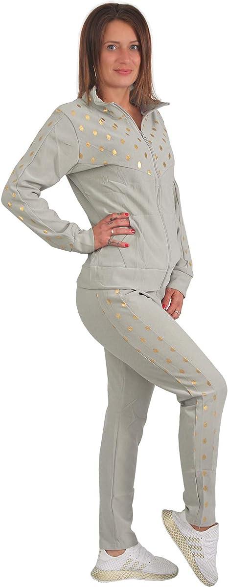 Tuta da ginnastica da donna colore: oro 2 pezzi Candygirls P003 con cappuccio