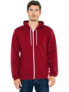 American Apparel Mens Unisex Flex Fleece Zip Hoodie