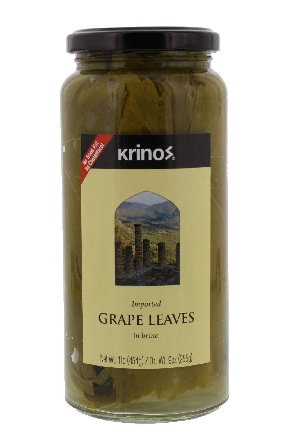 Krinos Gourmet Grape Leaves In Vinegar Brine 16 Ounces 454 Grams Amazon Com Grocery Gourmet Food